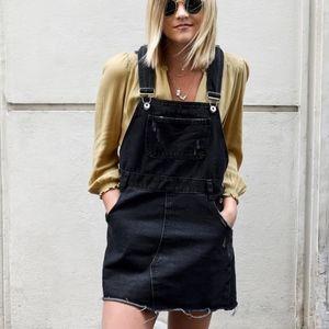 dark denim overalls